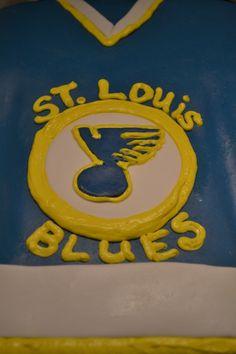St. Louis Blues Jersey Cake- Via Sue Ann's Custom Treats