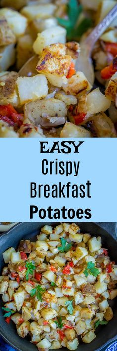These Easy Crispy Breakfast Potatoes are such a delicious breakfast side!  They're easy to make and everyone will love them!  Breakfast/Gluten Free/Vegan
