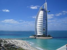 Everything is in impressive in Dubai. What a view!  Burj Al Arab, Dubai #luxurious #giant #holidaydestination www.goachi.com