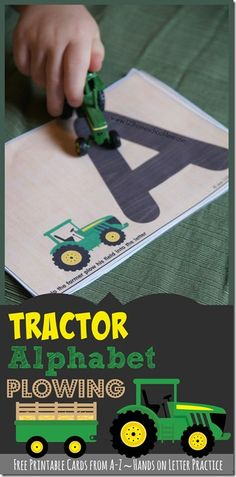 FREE Tractor Alphabet Plowing - kids will have fun practicing tracing letters with these fun farm themed alphabet printables! Preschool, prek, and kindergarten age kids will love these Traceable Letters Harvest Activities, Farm Activities, Alphabet Activities, Preschool Activities, Preschool Alphabet, October Preschool Themes, Summer Activities, Creative Curriculum Preschool, Free Preschool