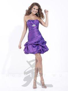 Short Purple Formal Gown