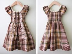 Tutorial to make the little girl's dress out of an old men's buttondown!  Love this version!