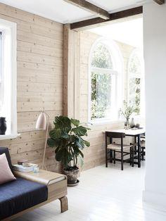 Toque rústico en una casa de estilo nórdico