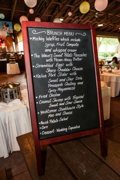 Best Wedding brunch menu EVAH!