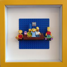 Lego Simpsons Framed Wall Art Minifigures easy to recreate