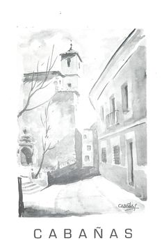 Cabañas expone acuarelas y dibujos en la Casa de Cultura de Cuenca Enero 1979