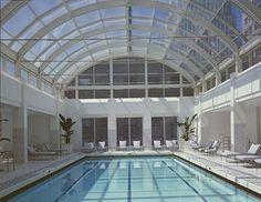 Great indoor pool with glass ceiling in downtown SF - Palace Hotel San Francisco