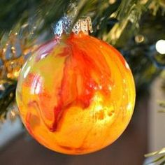 Cute craft made from a plastic clear ornament and paint!!!