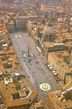 Air view Piazza Navona Rome