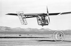 6 November 1980 First flight #flighttest of the Solar Challenger, solar-powered ultralight