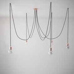 Copper Spider Pendant Light