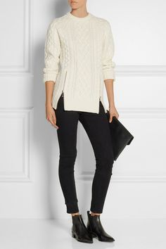 Alexander Wang | Cable-knit wool sweater | NET-A-PORTER.COM