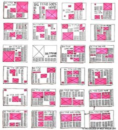 Layout I think all of these templets serve as a good basis for us to base spreads off of. They have many good ideas for appealing layout- and we could modify them to have less text! Graphisches Design, Buch Design, Design Ideas, Cover Design, Design Editorial, Editorial Layout, Configurations De Grille, Layout Inspiration, Graphic Design Inspiration