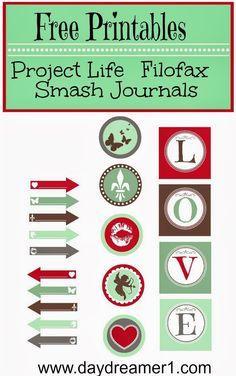 Free Printables-Filofax, Project Life, Smash Journal | Day Dreamer
