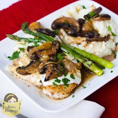 Chicken Madeira 1 pk of chicken breasts;salt & black pepper;1/3 cup all purpose flour;2 tsp fresh thyme;2 Tbsp EVOO;2Tbsp butter; a ball of fresh mozzarella SAUCE-1Tbsp EVOO;1-8oz crimini mushrooms (about 3 cup) sliced thick;3 cups Madeira wine(med dry),Rainwater Med. Dry Madeira;2c beef stock; 3 cloves garlic, diced;7.5oz grilled,marinated artichoke hearts drained & chopped;2 sprigs of fresh thyme;1/4 tsp black pepper; 2Tbsp butter,divided;1/2 cup heavy cream;garnish fresh parsley,chopped