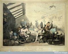 La Autopsia en el Arte: ROWLANDSON, Sala de disección, circa 1770