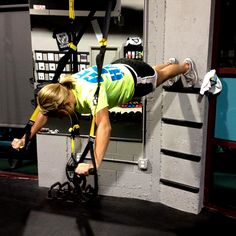 Chest Press not hard enough? Try TRX Chest Press using a Wall Ladder! #TRX #VSALLSPORTS