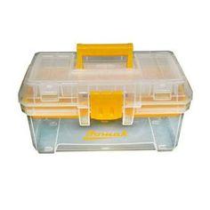 Homak 15.5-in Lockable Clear Plastic Tool Box