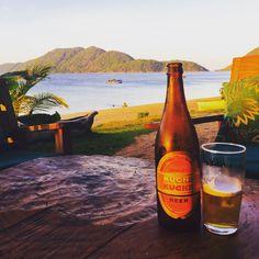 Beer by Lake Malawi#travel #Malawi #roadtrip #Africa #lakemalawi