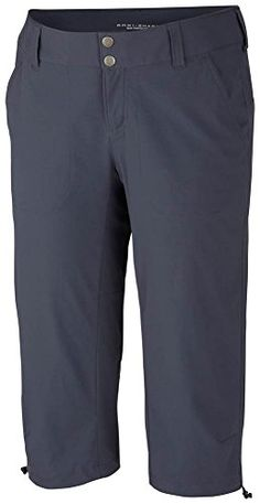 Columbia Sportswear Women's Plus-Size Saturday Trail II Knee Pant, India Ink, 16W. For product info go to:  https://all4hiking.com/products/columbia-sportswear-womens-plus-size-saturday-trail-ii-knee-pant-india-ink-16w/