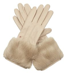 Jania faux-fur leather gloves