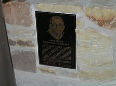 Plaque for the Jack Boyd Memorial flagpole dedication at Worth Ranch in 2005.