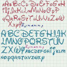 Disney letters cross stitch pattern.