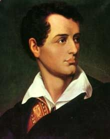 Lord Byron an English romantic writer, was afflicted with a limp that caused him lifelong psychological and physical misery. Lord Byron, Byronic Hero, Romantic Writers, Great Poems, Famous Poets, Romantic Period, Provocateur, Book Writer, Public Relations