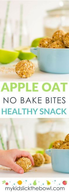 healthy apple oat no bake bites, these energy balls make a healthy breakfast or .,Healthy, Many of these healthy H E A L T H Y . healthy apple oat no bake bites, these energy balls make a healthy breakfast or healthy snack for kids Source by. Baby Food Recipes, Snack Recipes, Healthy Recipes, Apple Recipes For Toddlers, Kids Baking Recipes, Apple Recipe Healthy, Healthy Apple Muffins, Recepies For Kids, Vegan Recipes For Kids