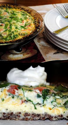 This gluten free spinach quiche recipe uses quinoa and rosemary to make a tasty crust.