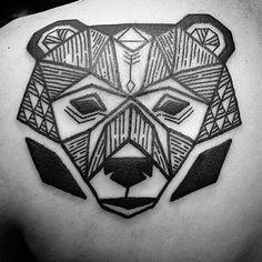 geometric bear on Instagram