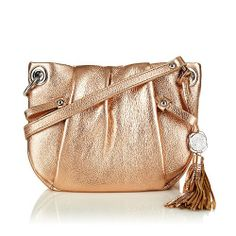 """Vince Camuto """"Christina"""" Metallic Leather Crossbody Bag Vince Camuto, To SEE or BUY just CLICK on AMAZON right here http://www.amazon.com/dp/B00GIIF6R0/ref=cm_sw_r_pi_dp_qMVutb099X635952"""