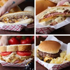 4 Sandwiches de 4 villes américaines. (4 Famous Sandwiches from 4 Cities) (https://www.buzzfeed.com/stephaniecozza/4-famous-sandwiches-from-4-cities?bffbtasty&ref=bffbtasty&utm_term=4ldradw#4ldradw)