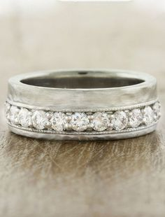 """""""Liara"""" wedding ring shown with custom variations ~ we ❤ this! moncheribridals.com"""