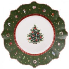 Create a wonderfully festive table setting this holiday with the colorful charm of the Villeroy & Boch Toys Delight Salad Plate. Fine porcelain is cheerfully bedecked in Christmas colors, holiday nuances, and detailed with classic toys. Christmas Salad Plates, Christmas China, Christmas Dishes, Christmas Toys, Christmas Colors, Xmas, Christmas Tablescapes, Christmas Holiday, Villeroy Et Boch Noel
