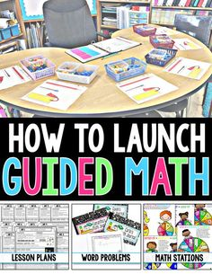 Are you having trouble figuring out how to Launch Guided Math in your classroom? If so, look NO FURTHER! This FREE RESOURCE will give you Step-by-Step instructions on How to Implement Guided Math in your Grade Classroom! by liza Maths Guidés, Fun Math, Teaching Math, Math Games, Math Activities, Math Fractions, Math Math, Math Resources, Teaching Time