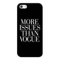 iPhone 6 Plus/6/5/5s/5c Case - More Issues Than Vogue Black ($35) ❤ liked on Polyvore featuring accessories, tech accessories, phone cases, phone, fillers, iphone case, iphone cover case, black iphone case and apple iphone cases