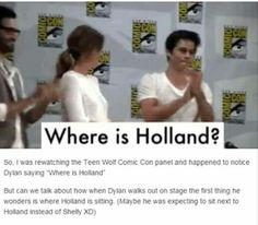 Stydia. Dylan o brien. Holland roden. Teen wolf comic con