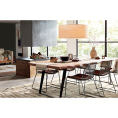 Grey Dining Tables, Casual Dining Rooms, Metal Dining Chairs, Table And Chairs, Large Dining Room Table, Kitchen Tables, Dining Sets, Dining Furniture, Furniture Ideas