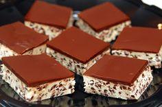 Hugs & CookiesXOXO: COOKIE DOUGH BARS TOPPED WITH CHOCOLATE GANACHE