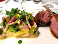 Dining in Portugal: Duck with eggplant purée and vegetables at L'AND Vineyards