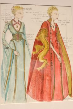 The embroidery on Cersei's clothes evolves with her character throughout the series. In the first episodes of Game of Thrones , the embroidery on Cersei's outfits feature birds. As the show continues, the birds become lions.