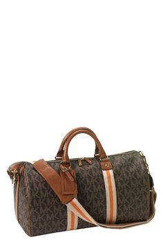 My new weekender! MICHAEL Michael Kors Duffle Bag with Webbing available at #Nordstrom