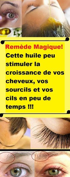 Si vous cherchez à stimuler la croissance de vos cheveux, vos sourcils et vos cils, cette huile vous donnera sûrement de bons résultats en peu de temps !!! Healthy, Hair Care, Quick Hair Growth, Eyelash Growth, Hair Loss, Everything, Hair Care Tips, Health, Hair Treatments