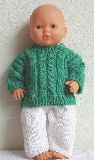 Breien met Plezier Poppenkleertjes breien Preemie Clothes, Knitting Dolls Clothes, Knitted Dolls, Doll Clothes, Doll Patterns, Knitting Patterns, Baby Knitting, Crochet Baby, Bear Doll
