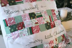 Gold Shoe Girl: sewing/embroidery for Christmastime