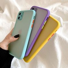 Candy Color Armor Shockproof iPhone Case