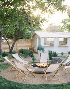Fire Pit And Lounge Chairs At Bodega Los Alamos Coco Kelley Back Patio, Backyard Patio, Backyard Landscaping, Outdoor Fire, Outdoor Living, Types Of Fire, Design Jardin, Outdoor Spaces, Outdoor Decor