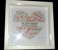 mily / Couples Print available for most occasions and colours.    30.00