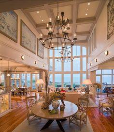 Coastal Interior Design Ideas. This home is a great example chic coastal interiors. Great Coastal interior design ideas! #Coastal #CoastalInteriors